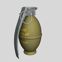 3d frag grenade model