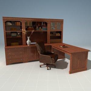 3d model horchow home office desk