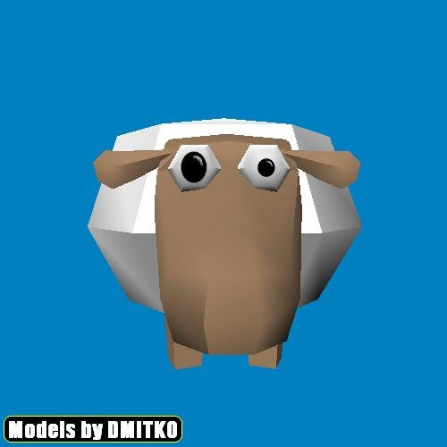 obj crazy sheep funny