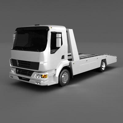 3d emergency truck model
