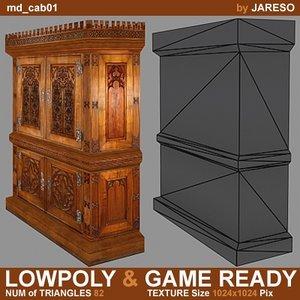 3ds medieval cabinet - md