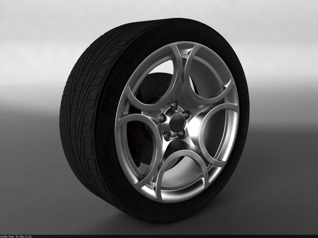 3d model car wheel alfa romeo