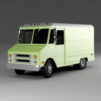 3d model classic step van