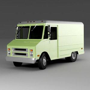 3d model classic step van