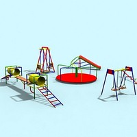 playground tunnel balancer 3d model