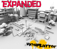 3d model assortment street viosplatter