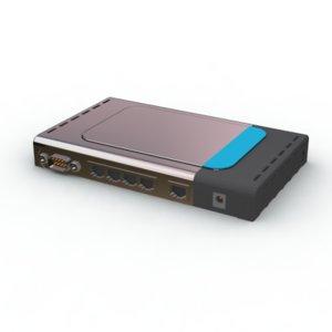 router d-link 3d max