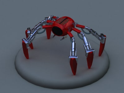 spydor robotic spider 3d model