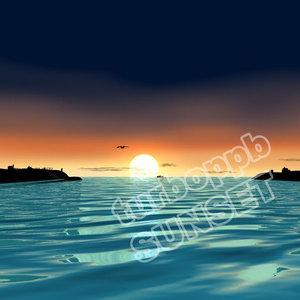 sunset sun 3d model