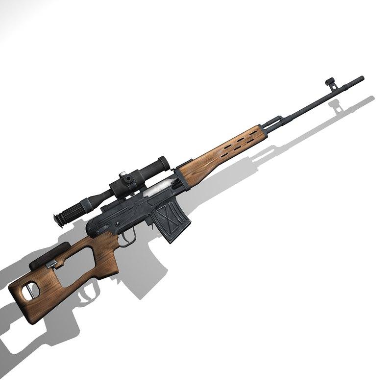 obj svd dragunov sniper rifle