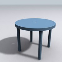 plastic table 3d model
