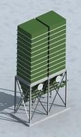 industrial storage bin 3d model