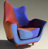 3dsmax alessandra armchair