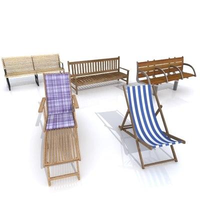 3d model of outdoor furniture