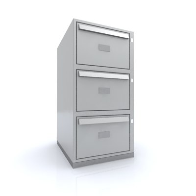 3ds max drawer filing cabinet office