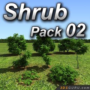 3d shrubs leaf model