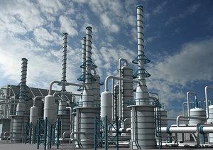 3d refinery unit 5 model