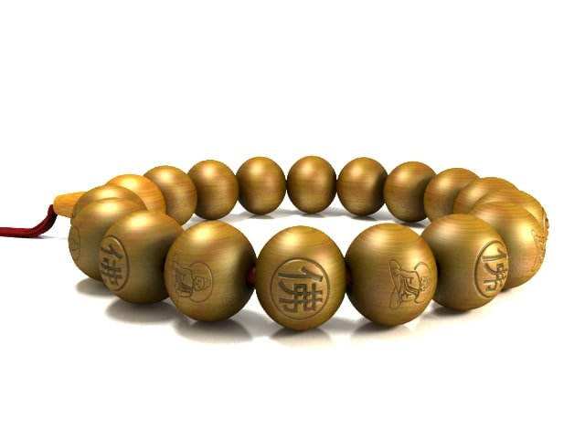 3ds max buddhist beads fu