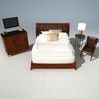 bed night stand 3d max