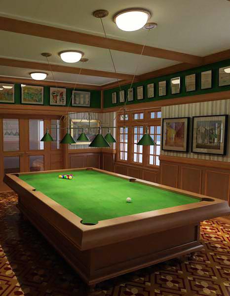 3d model billiard table