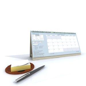 3d model calendar note pad