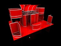 3dsmax exhibition stand octanorm