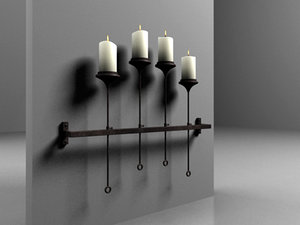3ds max 4 candles