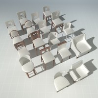 3d end designer chairs vol 3