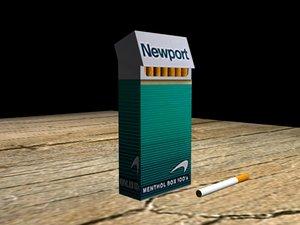 3d model of smokes newport 100 s
