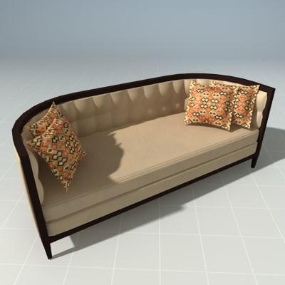 3dsmax couch thomasville mezzo