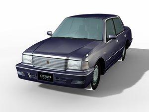 3d toyota crown sedan model