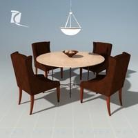 3d model dining room set kreiss