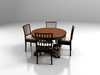 3ds max wood dining room