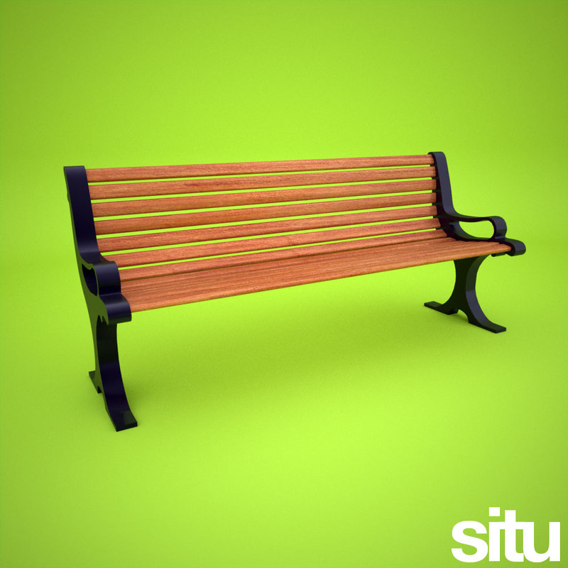 3d model gardens bench