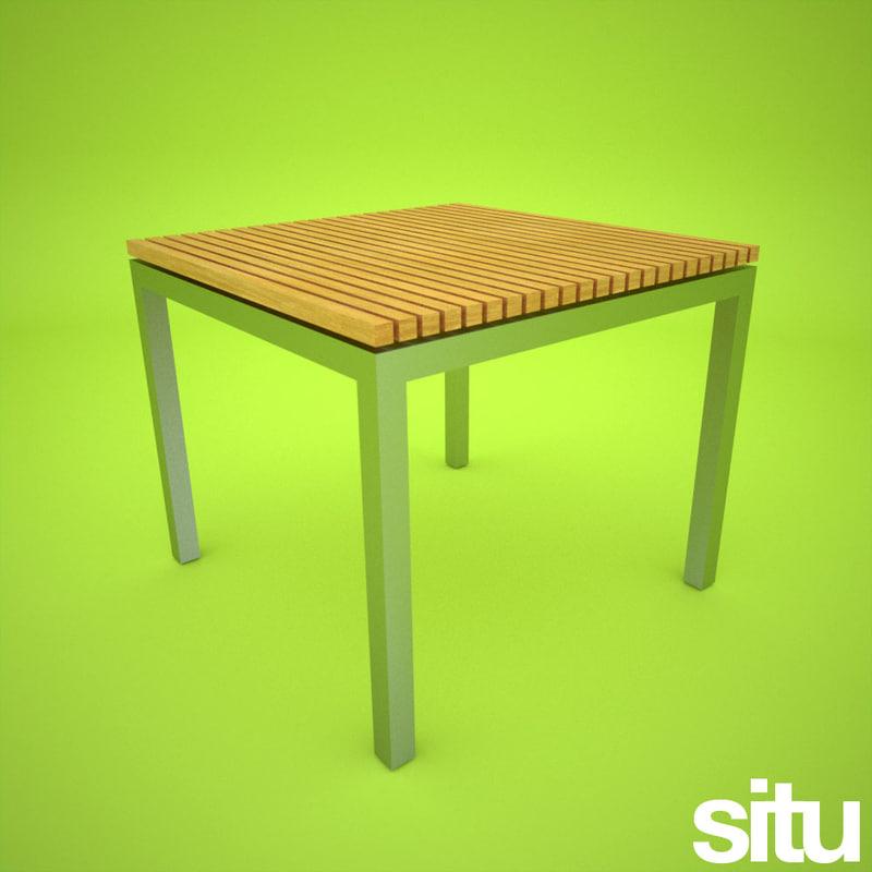 3d contemporary garden table model