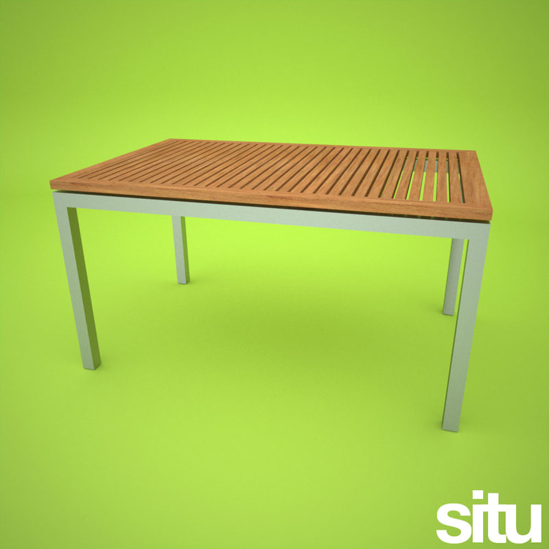 3d model contemporary garden dining table