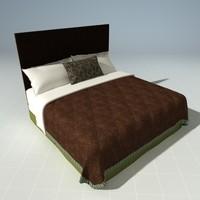 designer bed 3d model
