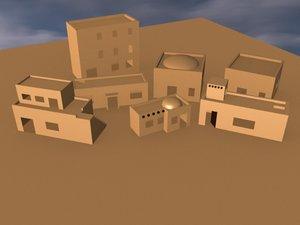 3d model buildings polys