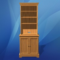 3d hutch cabinets model