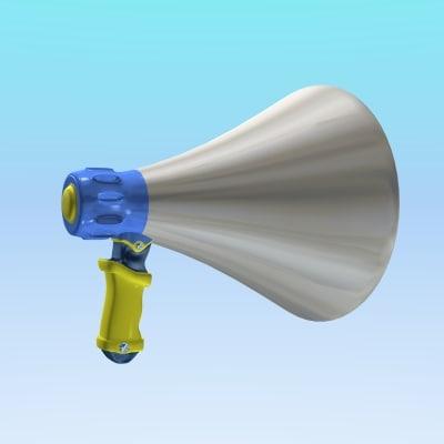 3ds max cartoon megaphone