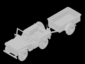 3d model jeep toy