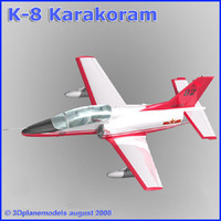 training jet k-8 karakorum 3d 3ds