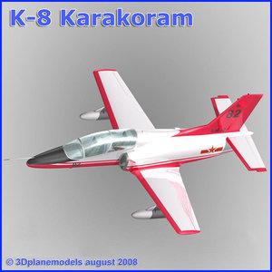 training jet k-8 karakorum 3d 3ds