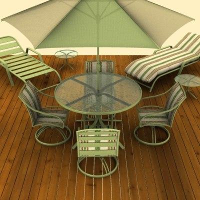3d patio furniture model