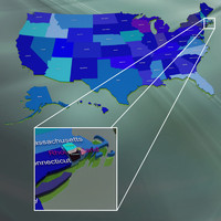 3d usa rhode island counties