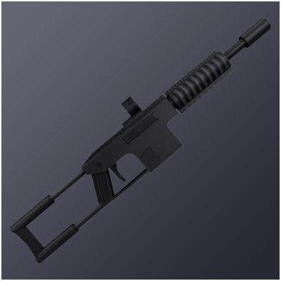 3d model automatic commando rifle