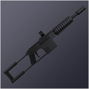 3d model automatic commando rifle