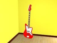 3ds max fender bass guitar