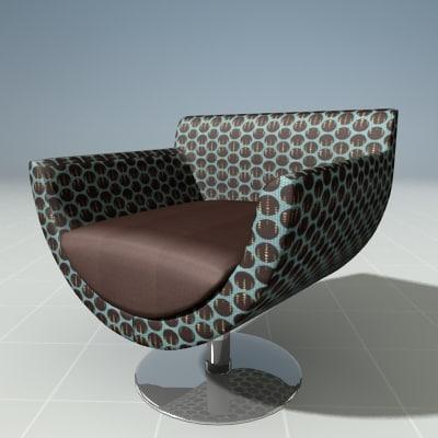 3d sandler lounge chair
