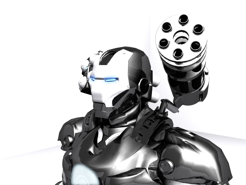 war machine man 3d max